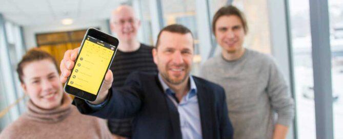 SmartDok gründer Bjørn Tore Hagberg presenterer den nye skjemabyggeren
