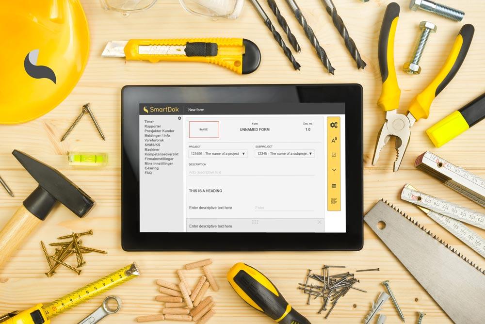 SmartDok skjemabygger lett å bruke
