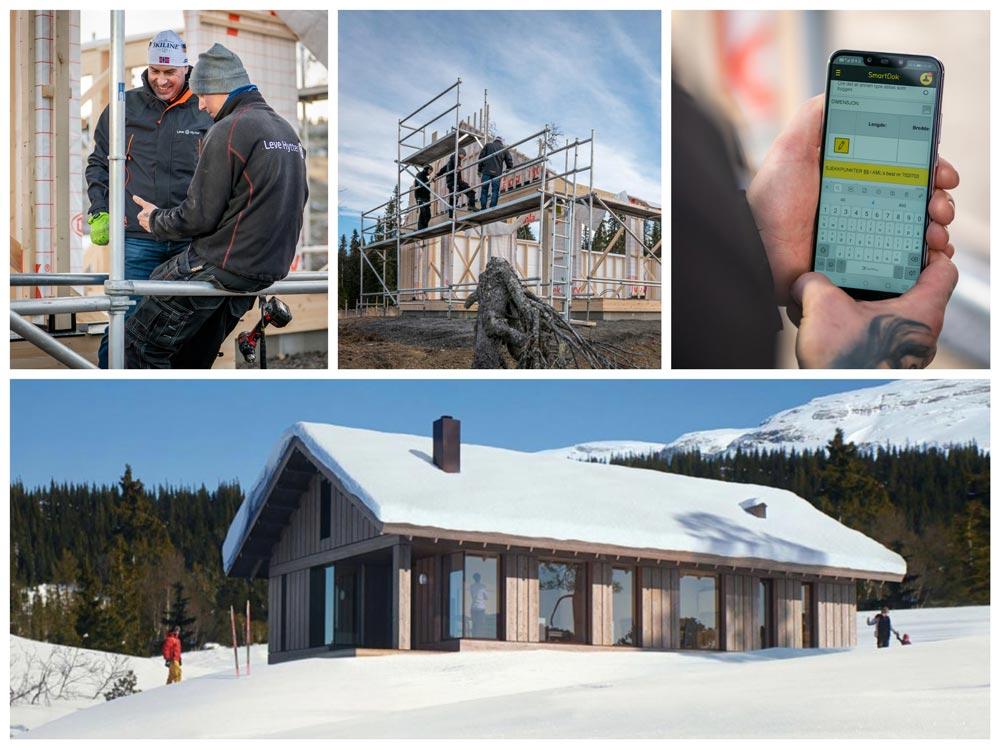 Når selskapet er klar for overlevering av hytter i hyttefeltet The Nest i Hafjell, skjer over overtakelsesforretningen via et digitalt signaturfelt.