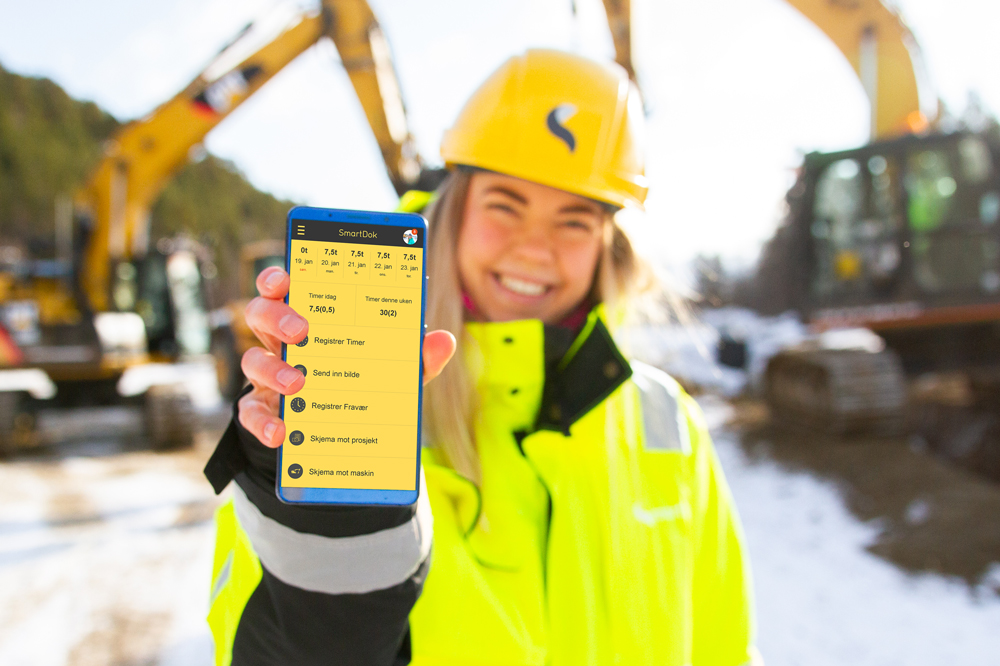 SmartDok app i bygge- anleggsbransjen
