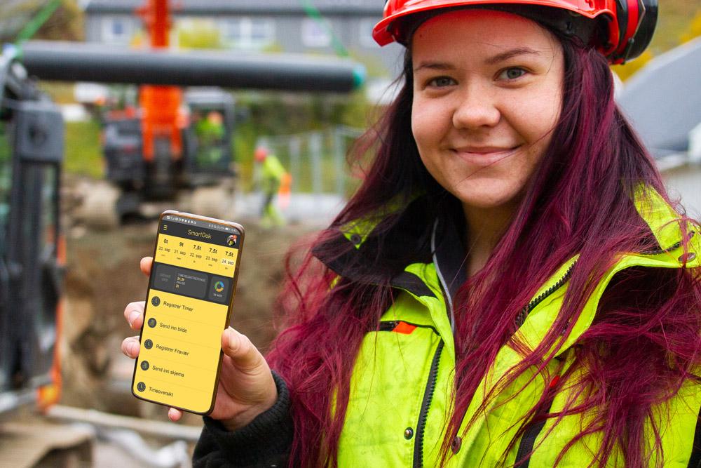 SmartDok app i telefonen