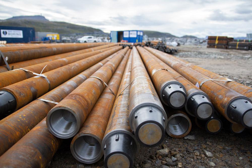 Sør-Norsk Boring 4000 meter med stålkjerneperler