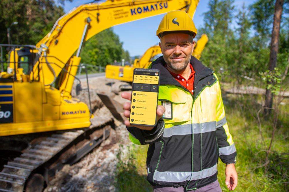 SmartDok brukes av anleggsarbeidere