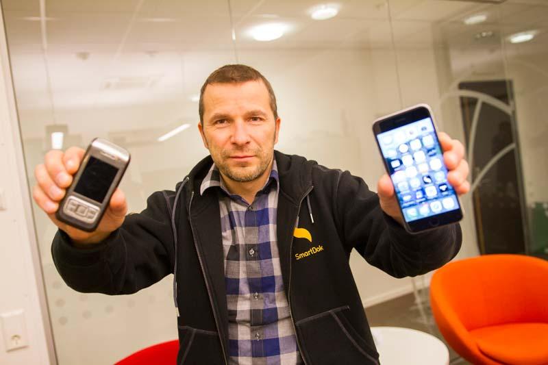 En innovasjon innenfor mobiltelefoni førte til en ny innovasjon innen bygg- og anleggsbransjen. Foto: Lasse Sørnes
